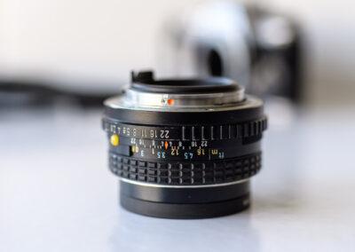 Pentax SMC lens focus scale.