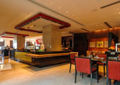 Inside Spectra restaurant, Chennai