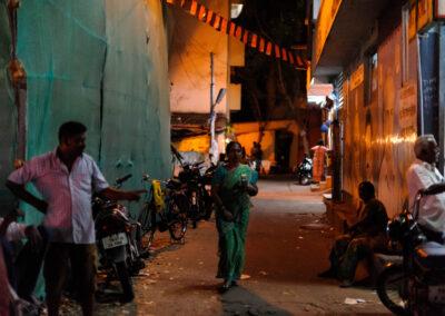 Street scene Kamaraj Salai, Chennai