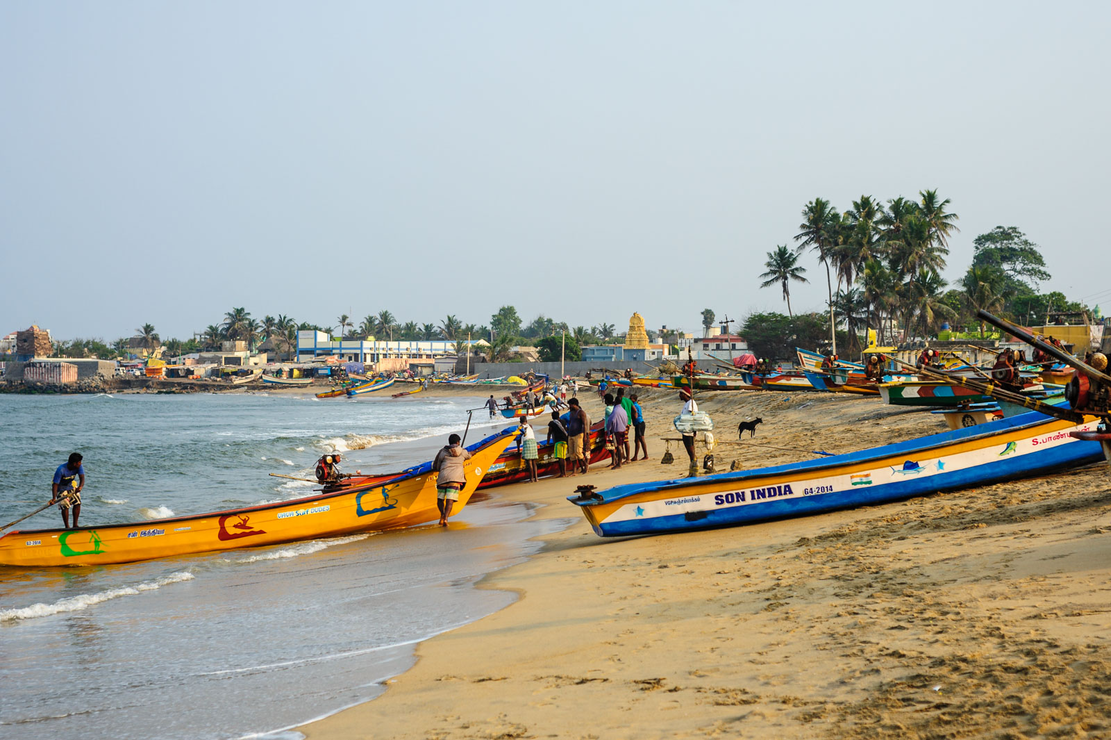Fishermen at Chengalpattu, India