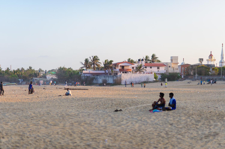 People on Kovalam Beach, Tamil Nadu. March 2015. Image no 4