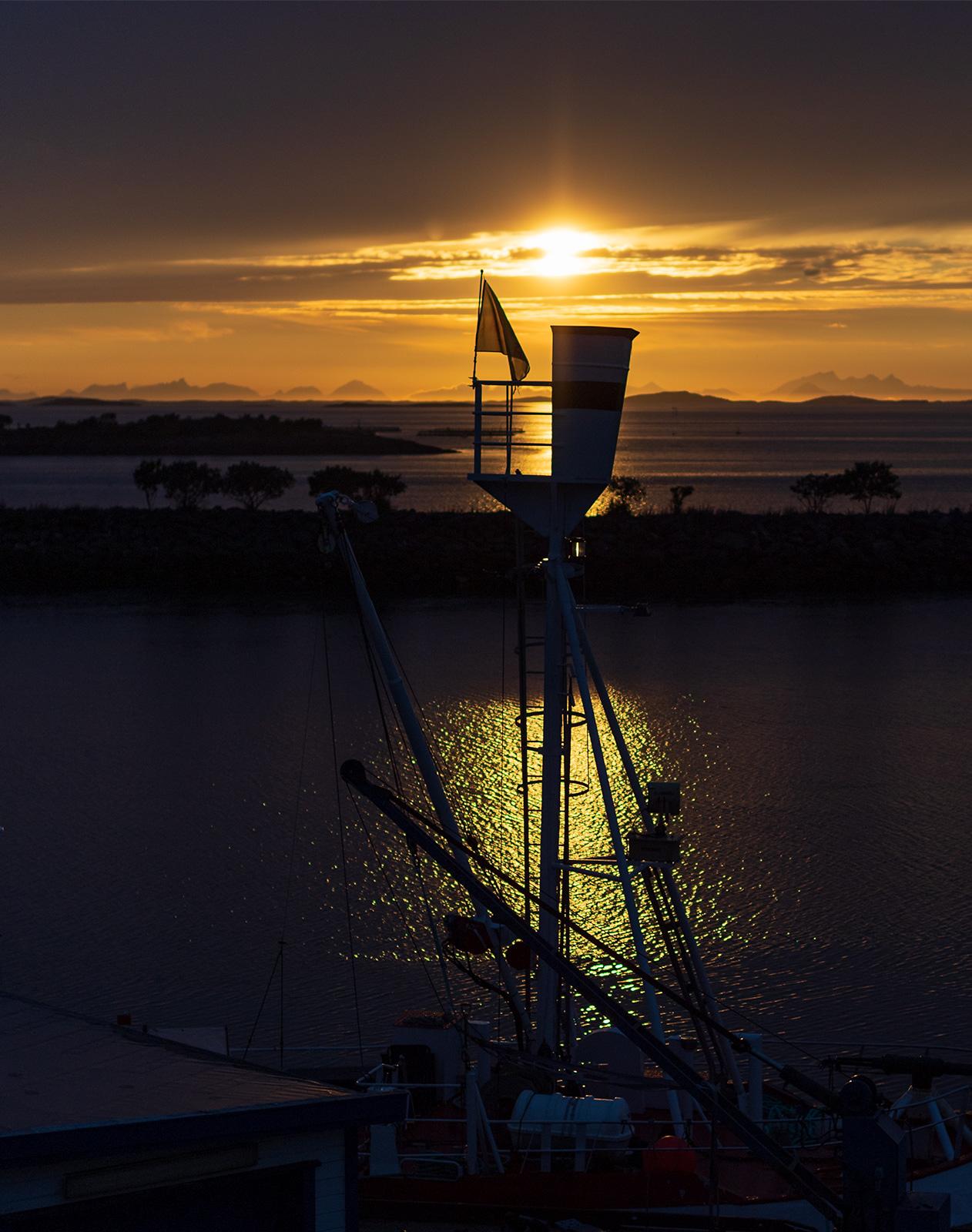 Sunset at Helnessund.