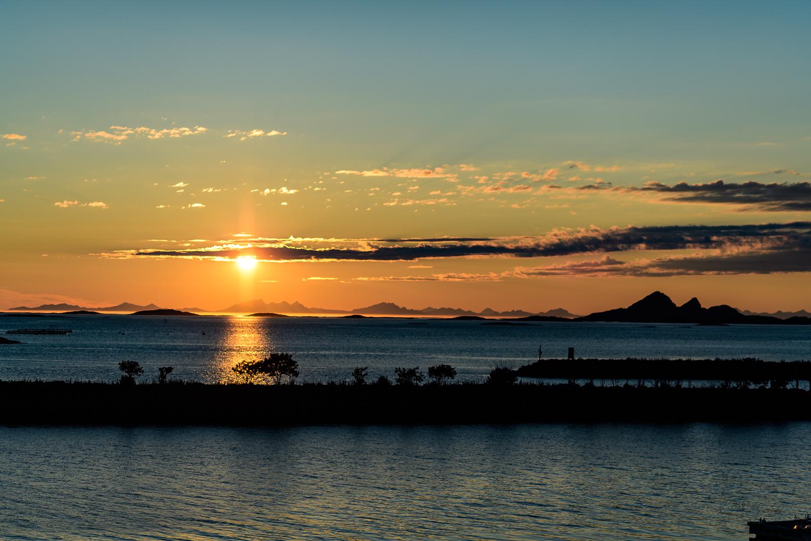 Sunset view from Helnessund Brygger