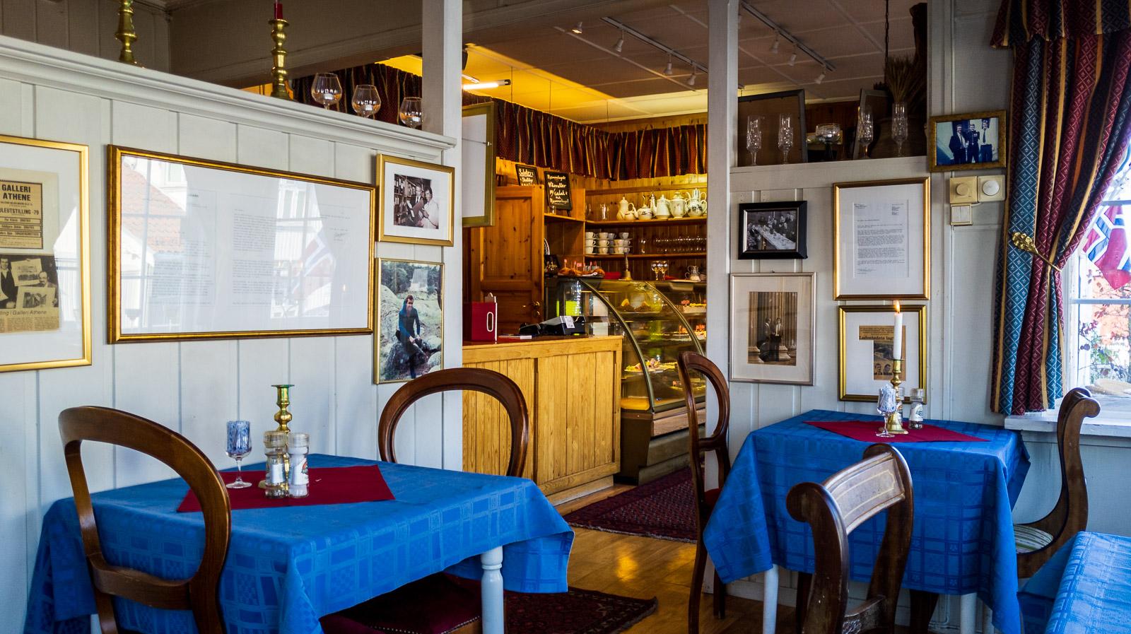 Inside Munchs Cafe, Åsgårdstrand.