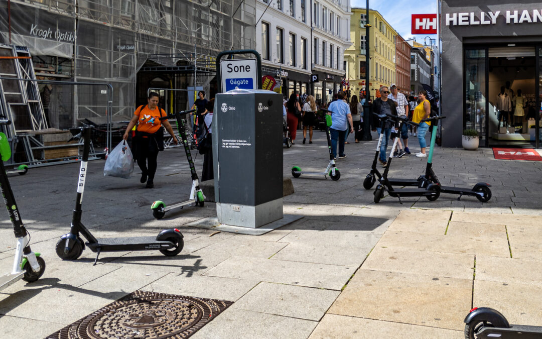 Electric scooter chaos in Oslo